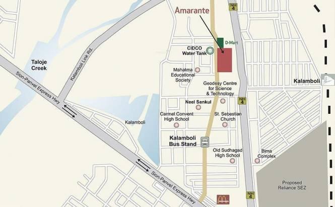 Neelsidhi Amarante Location Plan