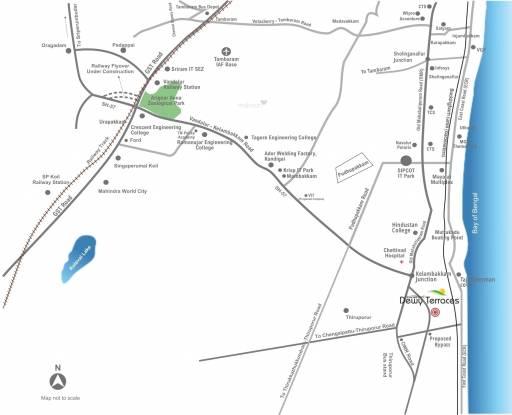 Sare Dewy Terraces Location Plan