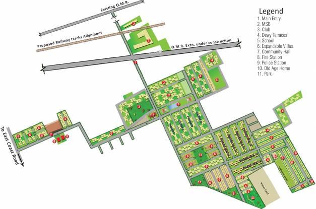 Sare Dewy Terraces Master Plan