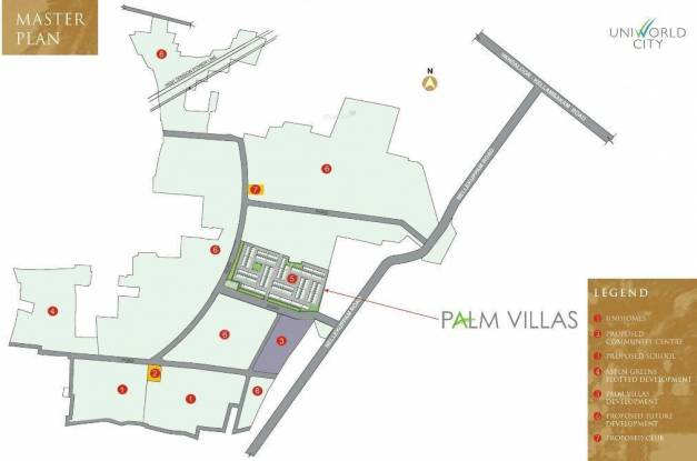 Unitech Palm Villas Master Plan