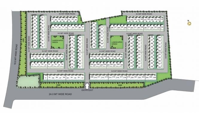 Unitech Palm Villas Site Plan