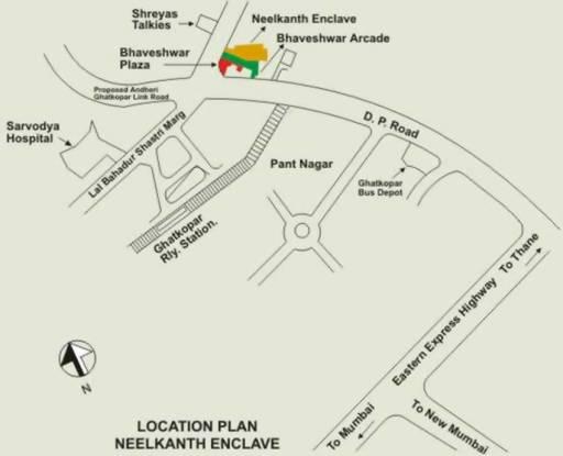 Neelkanth Enclave Location Plan