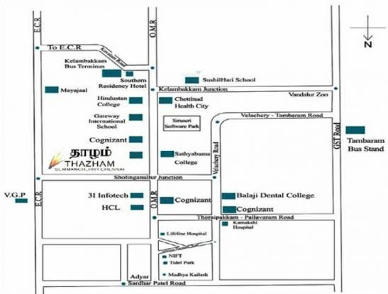 Vasavi Thazham Location Plan