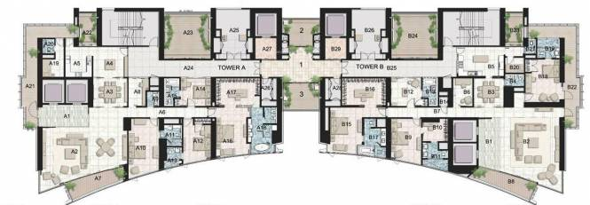 Ahuja Tower Cluster Plan