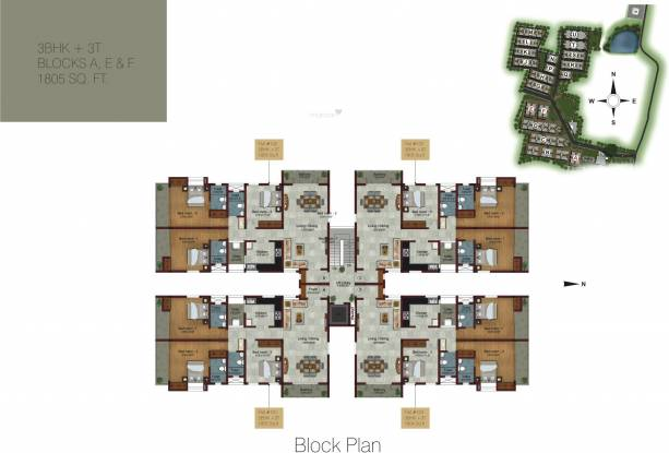 S And P Living Spaces Cluster Plan