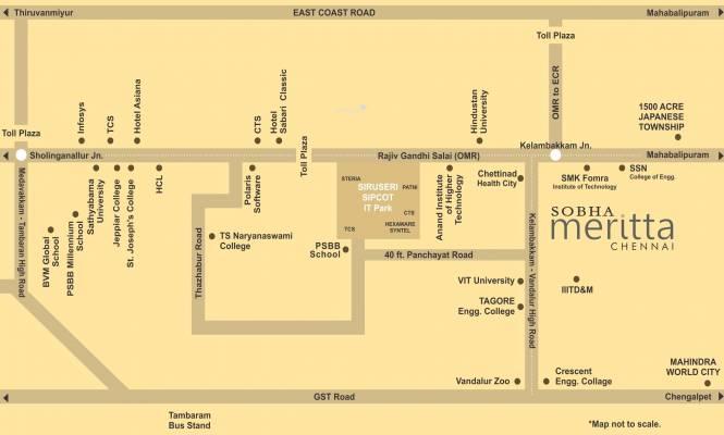 Sobha Meritta Location Plan