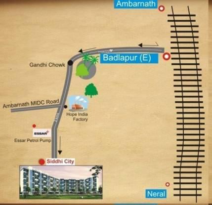 Siddhitech Siddhi City Location Plan
