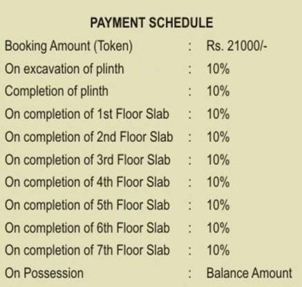 Siddhitech Siddhi City Payment Plan