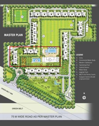 Emaar Gurgaon Greens Master Plan