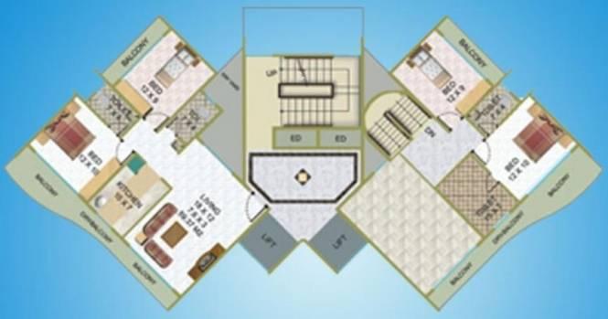 Nath Elite Heights Cluster Plan