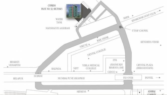 Adhiraj Cyprees Aqua Location Plan