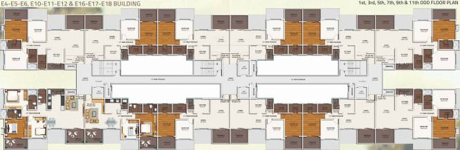 Kolte Patil IVY Apartments Cluster Plan