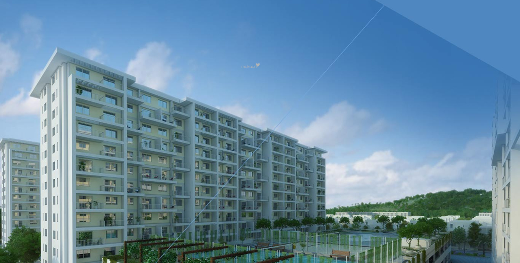 1185 sq ft 2BHK 2BHK+2T (1,185 sq ft) Property By Proptiger In IVY Apartments, Wagholi