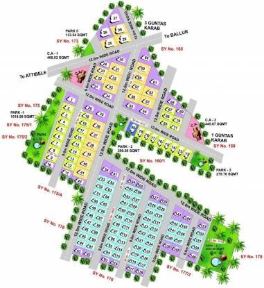 Columbia Padmavathi Paradise Layout Plan