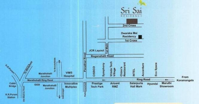 Mahaghar Sri Sai Residency Location Plan