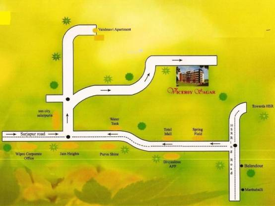 Mahaghar Viceroy Sagar Location Plan