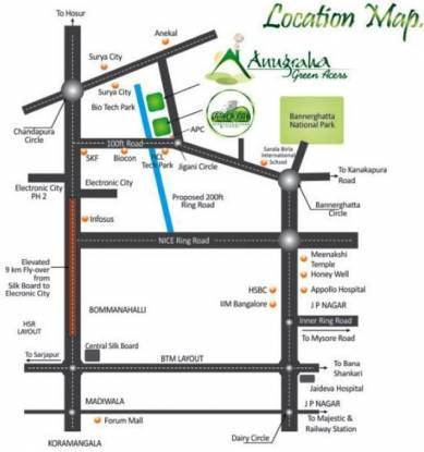 Anugraha Green Acres Location Plan