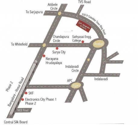 Anugraha Sai Anugraha Enclave Location Plan