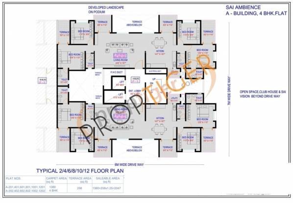 Wadhwani Sai Ambience Cluster Plan