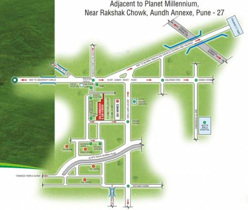 Wadhwani Sai Ambience Location Plan
