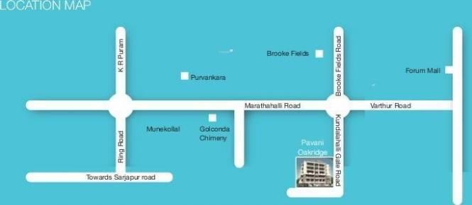 Pavani Oakridge Location Plan