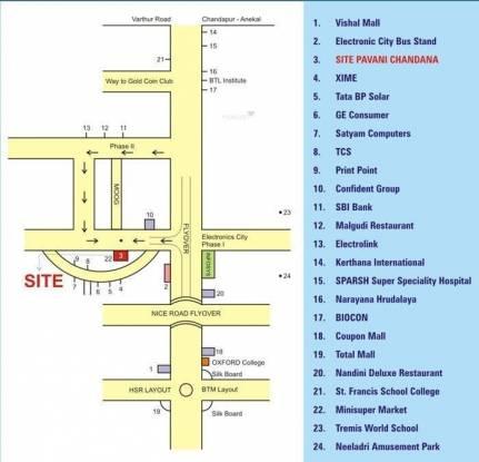 Pavani Chandana Location Plan