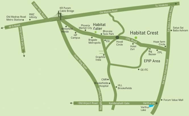 Habitat Crest Location Plan