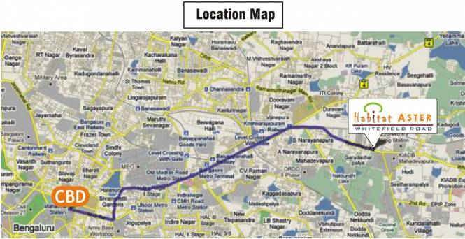 Habitat Aster Location Plan