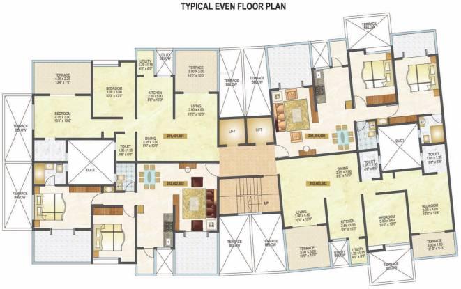 Mittal Silver Crescent Cluster Plan