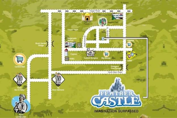 Mittal Feather Castle Location Plan