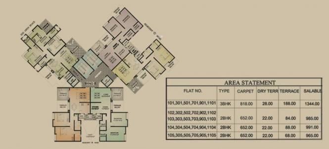 Shreeyash Shree Woods Cluster Plan