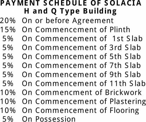Belvalkar Solacia Payment Plan
