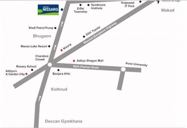 Eiffel Aditya Nissarg Location Plan