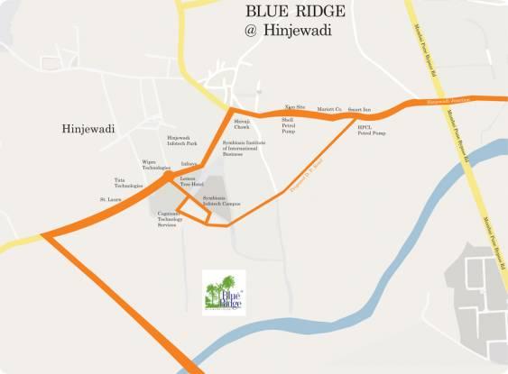 Paranjape Blue Ridge Location Plan