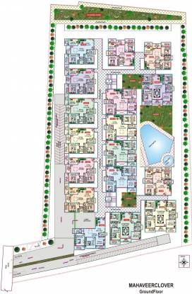 Mahaveer Clover Layout Plan