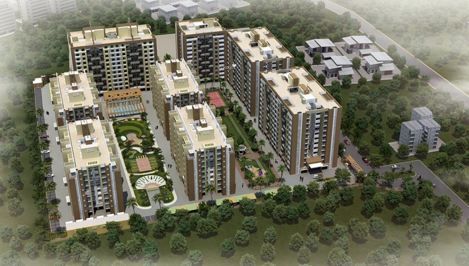 950 sq ft 2BHK 2BHK+2T (950 sq ft) Property By Raviraj Real Estate In Park Xpress, Baner