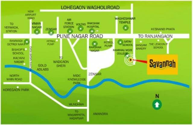 Bhandari Savannah Location Plan