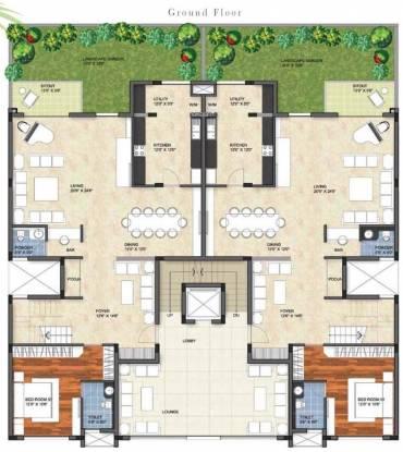 Prestige Garden Bay Cluster Plan
