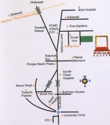 Sree Prime Square Location Plan