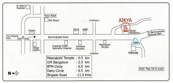 Mythreyi Aikya Location Plan