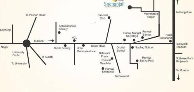Runwal Snehanjali Location Plan