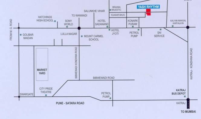 Yash Rhythm Location Plan