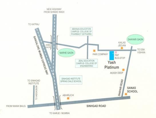 Yash Platinum Location Plan