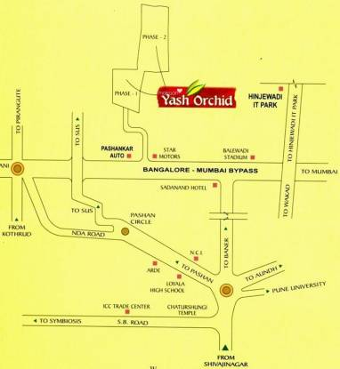Yash Orchid Location Plan