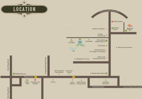 Edifice Villa Valley Location Plan