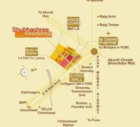 Siddhivinayak Shubhashree Residential Location Plan