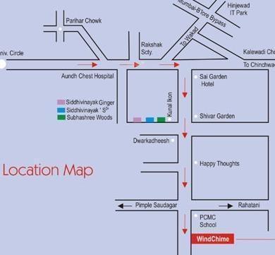 Siddhivinayak Wind Chime Location Plan