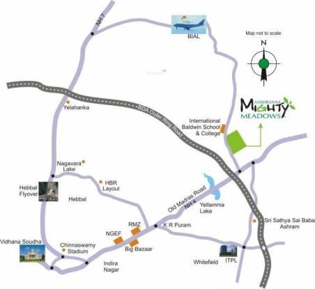 Aashrayaa Mighty Meadows Location Plan