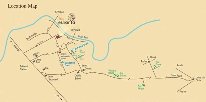 Vasudha Sai Eshanya Location Plan
