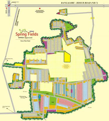Upkar Spring Fields Layout Plan